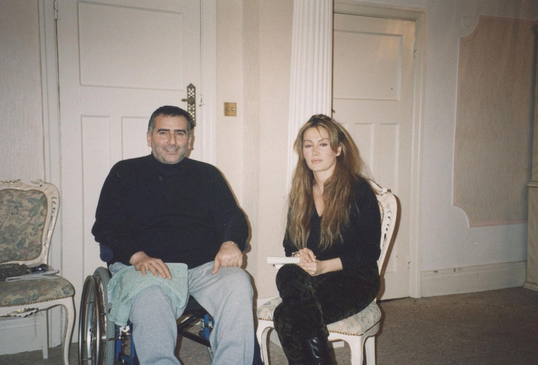 Abdullah Baybaşin'in Londra'daki evinde